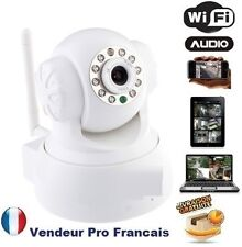 Camera Sans Fil Wireless WiFi IP IR Nightvision Dual Audio Webcam Blanche