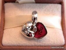NEW! AUTHENTIC PANDORA CHARM .925 SILVER YOU AND ME DANGLE #791244CZ  HINGED BOX
