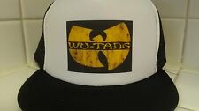 Wu tang yellow label snap back trucker hat adjustable Otto brand Black