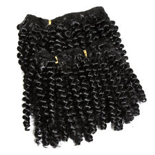 "12"" Spiral Curl Afro Hair Weft Extensions - Silky Black"
