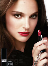 Natalie Portman 2-page clipping Oct 2013 ad for Dior Rouge