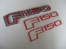 2015 2016 2017 NEW FORD F-150 EMBLEM OVERLAY VINYL DECALS SIDE AND TAILGATE RED