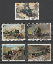 GB 1985 Famous Trains / Railways SG1272 - 1276 Complete Set Unmounted Mint