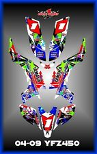 YAMAHA YFZ 450 YFZ450  04-09 ATV QUAD  SEMI CUSTOM GRAPHICS  DECALS MAYHEM ONE