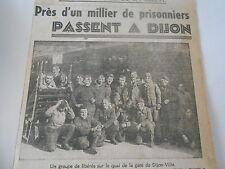 Un millier de prisonniers passent à Dijon quai de la gare Coupure de presse 1943