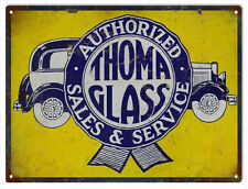 Reproduction Authorized Thoma Glass Sales Automotive Sign