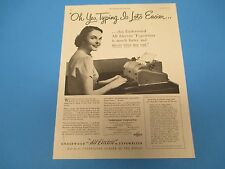 1949 All Electric Typewriter Made By Underwood Corporation Print Ad PA005