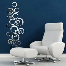 PRO Circles Mirror Style Removable Decal Vinyl Art Wall Sticker Home Decor TE