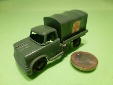 HONG KONG PLASTIC MILITARY TRUCK  AMBULANCE - ARMY GREEN 1:60? - GOOD CONDITION