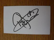 50's-2000's Autographed White Card: Jarvis, Rossi - Norwich City