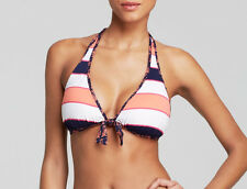 TOMMY BAHAMA SWIM RUGBY CORAL PALM REVERSIBLE HALTER BIKINI TOP, XL