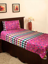Homefab India Pink Cotton Single Bed-Sheet (Single184)