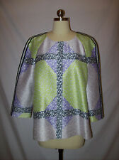 NWOT Chic J.Crew Collection Lavender/Green Print Tunic Top/Shirt/Blouse Sz.12