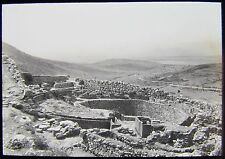 Glass Magic Lantern Slide ANCIENT GREEK RUINS NO3 C1910 PHOTO GREECE ? CRETE ?