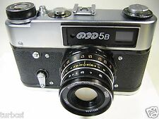 "Appareil photo camera Fed 5b Leica Copy as new ""MINT"" Lens Industar 2,8/55 m39"