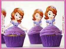 12 Princess Sofia The First Edible Stand Up Rice Paper Cake Toppers Cute