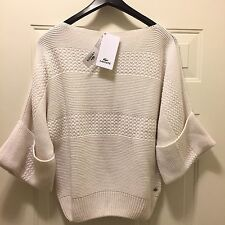 NWT WOMEN LACOSTE SWEATER ONE SIZE IVORY