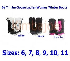 Baffin SnoGoose Ladies Womens Winter Boots Sizes 6 7 8 9 10 11 Black White Berry