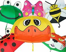 "Lot of 12 New RainStoppers 38"" Children Kid Asstd Animal Umbrellas-Free Shipping"