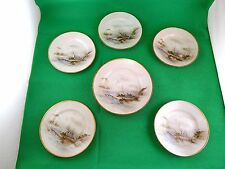 Japanese Hand Painted Plates x 6 Signed