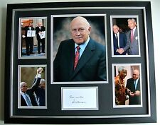 FW de Klerk SIGNED FRAMED Photo Autograph Huge South Africa Politic Display COA