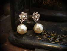 Vintage Butler & Wilson Baroque Pearl Drop Pierced Earrings