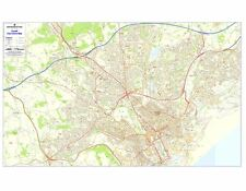 Postcode City Sector Maps 3 Cardiff - Laminated Wall Map For Business