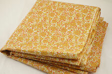 """Vintage Floral Fabric 3.6 Yards 37""""W Pink Green Chartreuse Quilt Craft Sewing"""
