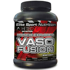Hi-Tec VasoFusion 240 Caps Powerful Nitrix Oxide (NO) Stimulator Muscle Pump