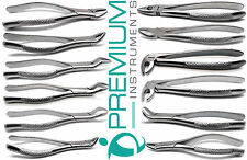 12 Pcs Dental Extracting Forceps 23,65,150,151,150S,151S,88L,88R,MD1,MD2,MD3,MD4