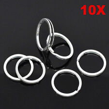"Lot 10 Pcs 25mm 1"" Nickel Silver Color Keychain Rings Split Key Ring DIY"