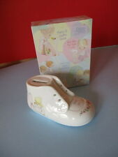 PRECIOUS MOMENTS,1989 BABY SHOE BANK & 2000, NOTE BOX, MESSAGE CARDS & ENVELOPES