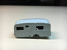 Lesney Diecast Grey Wheels Caravan Camper RV Toy Made In England