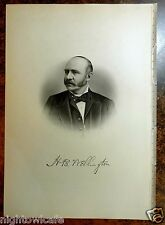 Antique Print 1885 H.B. WELLINGTON Pittsfield, Massachusetts STEEL ENGRAVING