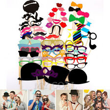 58 Photo Props On A Stick Mustache Booth Wedding Birthday Party Favor DIY Decor