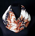 B32 Lace Gold Coral Ivory Black Metallic Chevron Zig Zag Infinity Scarf Boutique