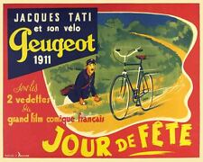 Vintage Antique  French Bike Bicycle Advertising   POSTER