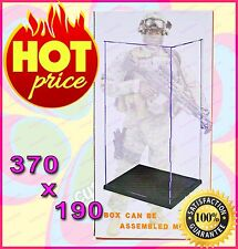 "[Easy Self-assembly] Clear Acrylic Display Case Box 12"" 1/6 Scale Figure 37x19cm"