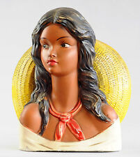 JOLI BUSTE EXOTIQUE FIGURINE FEMME HISPANIQUE VINTAGE RETRO FIFTIES MEXICAINE