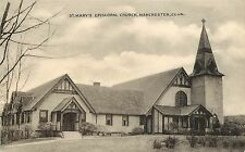 Vintage Postcard St. Mary's Episcopal Church Manchester CT Hartford County,