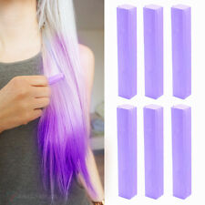 Best Temporary Lilac Hair Dye Set of 6 | LILAC - 6 DIY Light Purple Hair Chalks