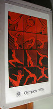 Vintage Olympic Poster Montreal 1976 Olympics Gymnastics Colleen Browning pin-up