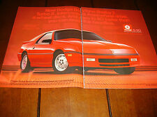 1987 DODGE DAYTONA SHELBY Z  ***ORIGINAL 2 PAGE AD***