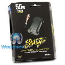 STINGER SGN121 110W FIXED 2CH LINE OUTPUT CONVERTER for CAR AUDIO AMPLIFIERS NEW
