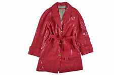 NINA RICCI WOMEN'S PINK BELTED LUXURY DESIGNER RAINCOAT - UK 8 / EUR 36 / US 4