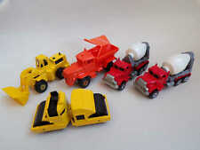 Hot wheels workhorses snow plough cement mixer etc x5 job lot M2