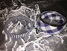 BRAND NEW Set of 2 Fashion Bangles/Bracelets, Blue & White, Cute with jeans!