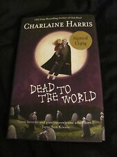 Dead to the World by Charlaine Harris hardcover SIGNED 1st edition 221/500 SALE!