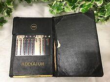 Vintage Cased Addiator Addition & Subtraction Hand Held Metal Adding Machine