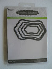 DARICE DIE CUT EMBOSSING STENCIL NESTING CURVED RECTANGLE 2014-03 BNIP *FREE P&P